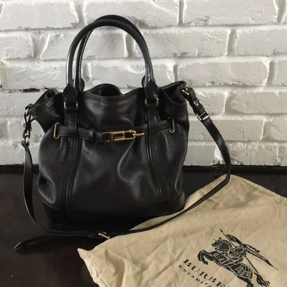 Burberry Handbags - Burberry Golderton Chocolate Calf Leather Handbag